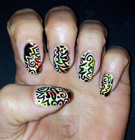 Splatter+tribal design