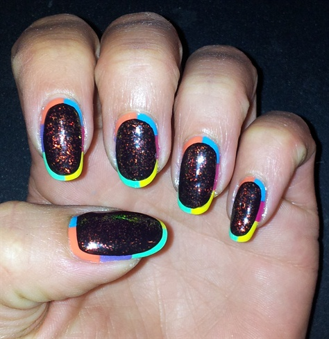 Black with holo and colorful outline