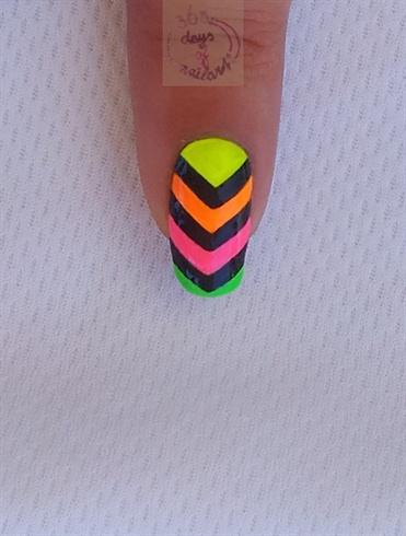 Neon chevron