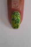 Elegant green leafy stems