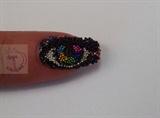 Rainbow iris with beads