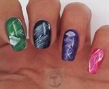 Brush stroke nail art