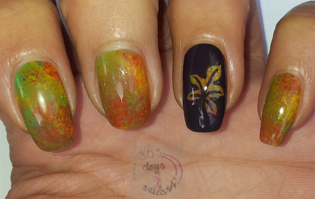 Marbled fall nails