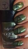 Magnetic fall nail art