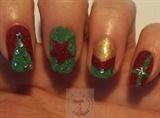 Velvet Christmas nails