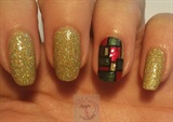 Abstract Christmas nails