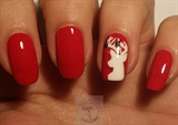 Reindeer nail art