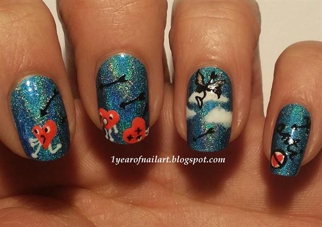 Anti Valentine nails