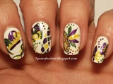 Mardi Gras/Carnival nails