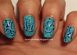 Graffiti nails for Autism Awareness