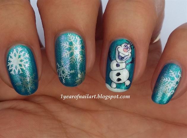 Disney Frozen Olaf - Disney Frozen Olaf - Nail Art Gallery