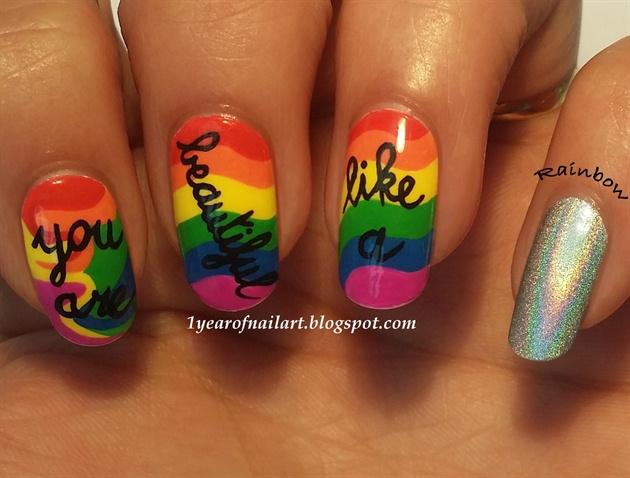 You are beautiful like a rainbow