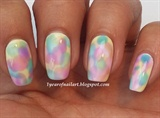 Watercolor nails OPI Sheer Tints