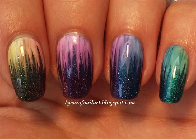 Rainbow waterfall OPI Sheer Tints