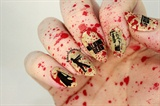 The Walking Dead Blood Splatter Nails