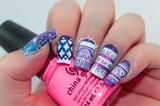 Aztec Galaxy Nails