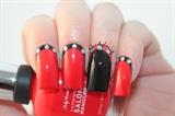 Black & Red Ruffian Nails