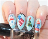 God Bless Our Troops Nails