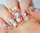Peppermint Snowflake Nails