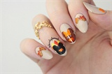 Mickey & Minnie Thanksgiving Nails