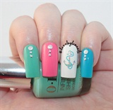 Colorful Anchor Nails