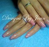 Pink glitter acryl