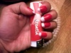 red french nails..