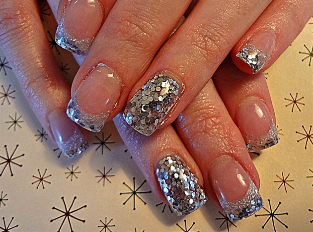 Silver new year nail art gallery silver new year prinsesfo Images