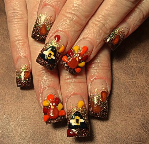 Thanksgiving Nails: Nail Art Gallery