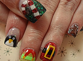 nail art: Tis the Season