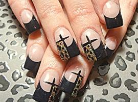 nail art: Cheetah Cross