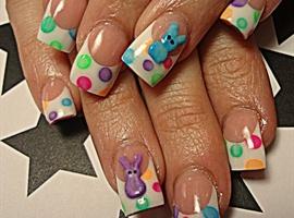 nail art: Peeps