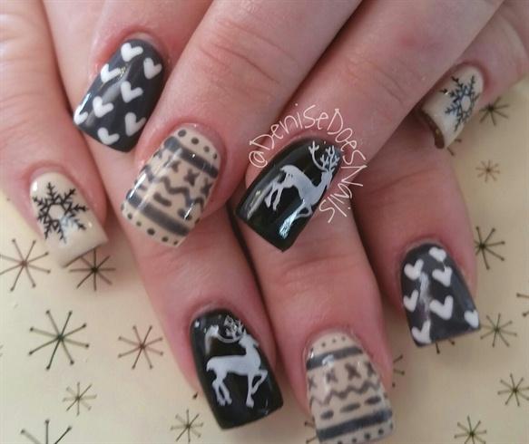 Christmas Sweater Nail Art Gallery