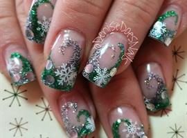 nail art: Winter Wonderland