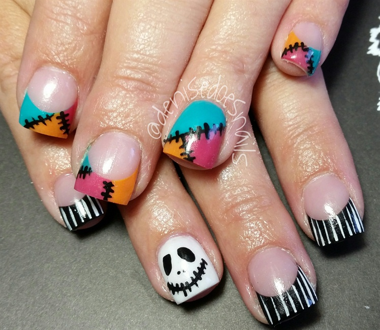 Jack And Sally Nail Art Gallery