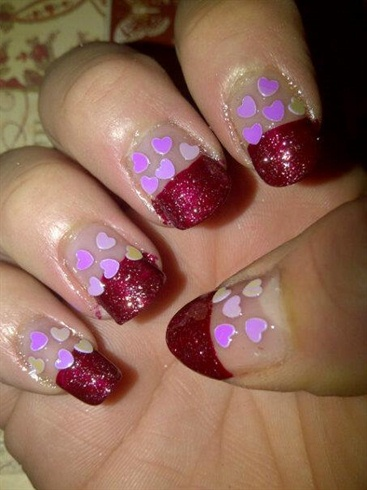 Valentine's day themed nails