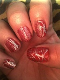 red and silver design