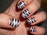 Classic Zebra On Natural Nails