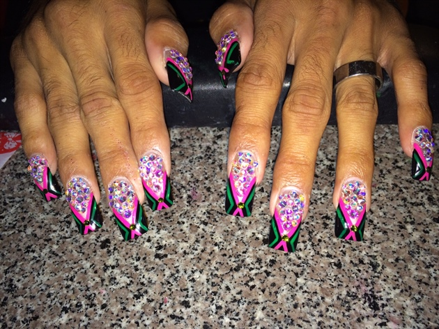 Bling Toxic Cheer Nails Nail Art Gallery