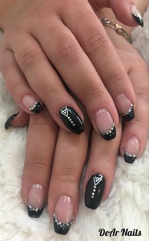 Elegant Black French Nails