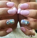 Baby Pink Glamorous Nails