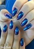 Blue/Purple Chameleon Mirror Nails