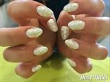 Gold/Silver Glittterd Acrylic Nails