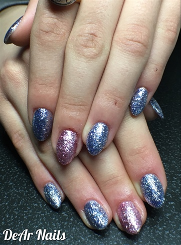 Gel Flakes On Almond Nails