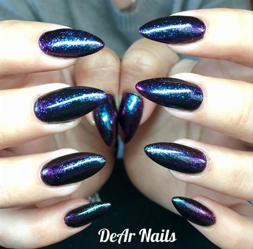 Chameleon Almond Nails