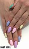 Pastel Multi-colored Nails