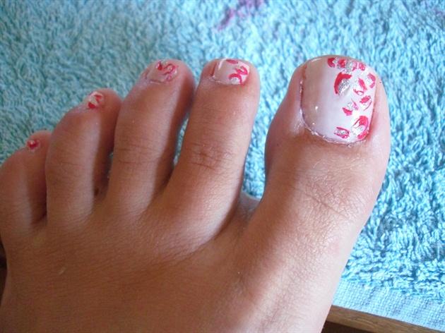 Pink Leopard Feet Nails Nail Art Gallery