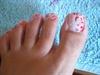 Pink Leopard Feet Nails