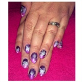 Purple Ombré. With Stamping