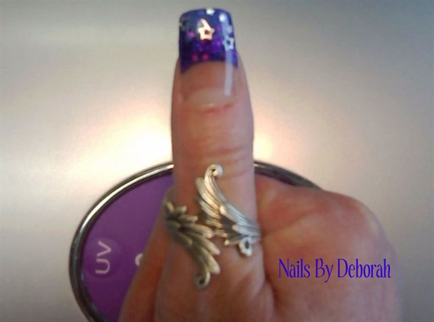 Purple & Blue w/ silver stars